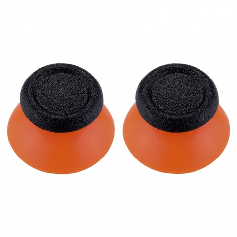 Orange & Black Replacement Pair Thumb Sticks for Xbox One & PS4 Controllers