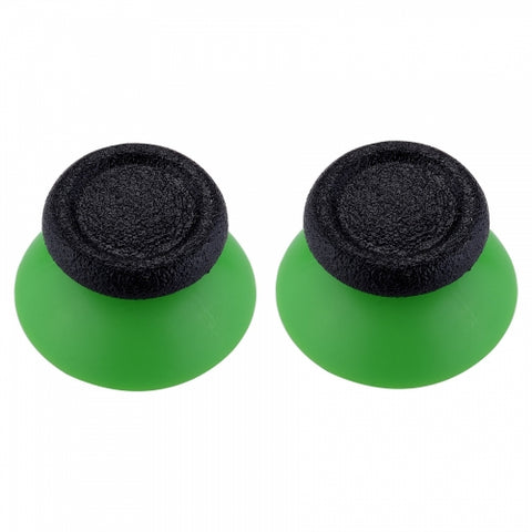 Green & Black Replacement Pair Thumb Sticks for Xbox One & PS4 Controllers