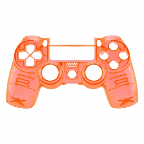 Brand New PS4 Slim/Pro JDS 040 V2 Controller Crystal Orange Custom Front Shell