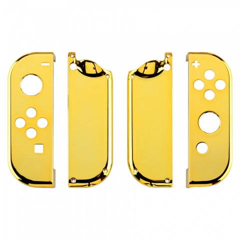Nintendo Switch Joy-Con Controller Chrome Gold Custom Shell