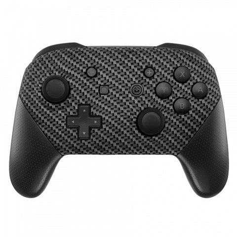 Nintendo Switch Pro Controller Soft Touch Carbon Fibre Custom Shell