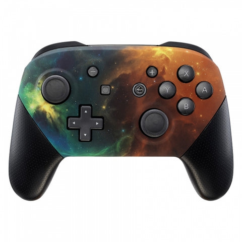 Nintendo Switch Pro Controller Soft Touch Nebula Stars Custom Shell
