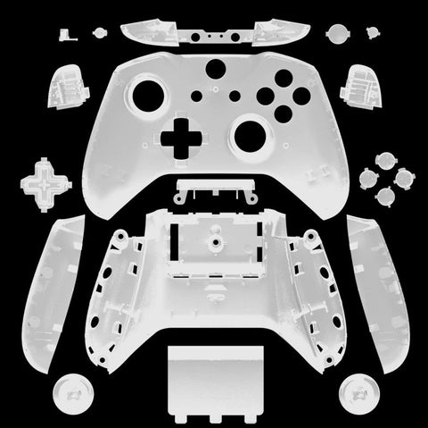 Brand New Xbox One S Controller Clear/Transparent Custom Replacement Full Shell