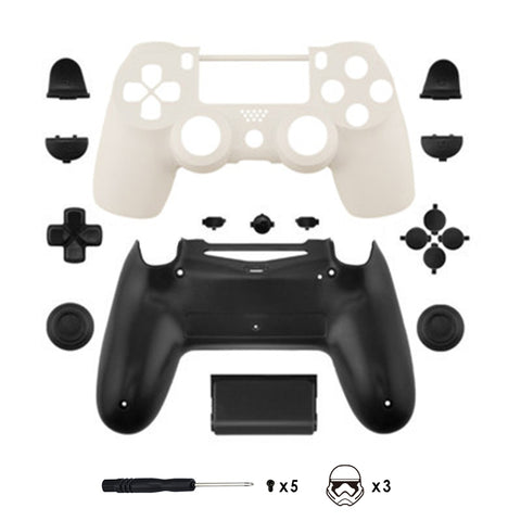 New PS4 Slim/Pro JDS 040 V2 Controller Storm Trooper Custom Replacement Full She