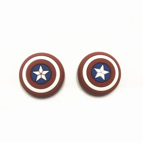 Captain America Logo Themed PS4 Thumbstick Rubber Grips