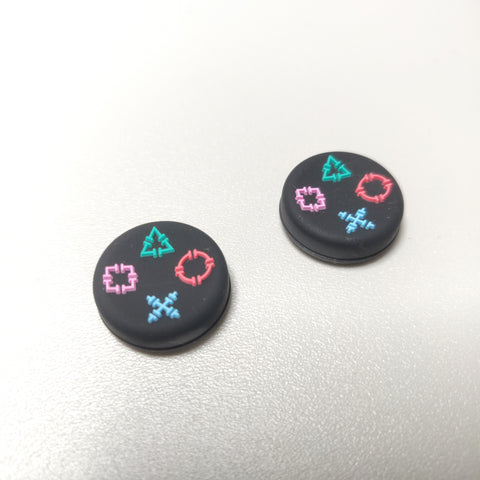 Playstation Icons Button Logo Themed PS4 Thumbstick Rubber Grips
