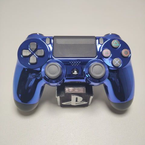 Official PS4 Controller V2 Custom Chrome Blue Front Shell Themed