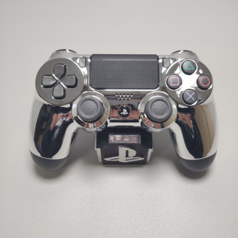 Official PS4 Controller V2 Custom Chrome Silver Front Shell Themed