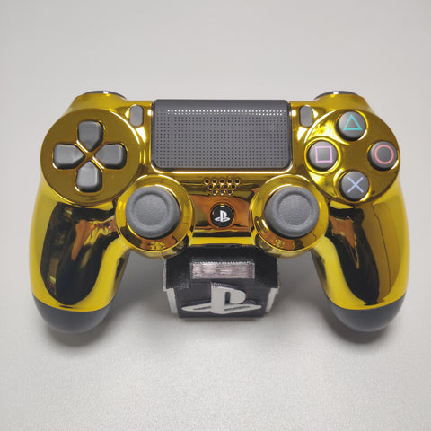 Official PS4 Controller V2 Custom Chrome Gold Front Shell Themed