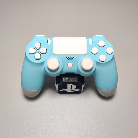 Official PS4 Controller V2 Custom Sky Blue & White Themed