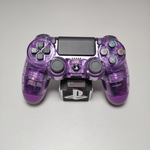 Official PS4 Controller V2 Custom Crystal Transparent/Clear Purple Themed