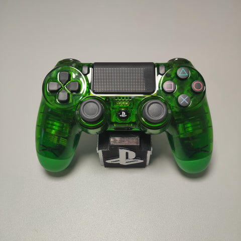 Official PS4 Controller V2 Custom Crystal Transparent/Clear Green Themed