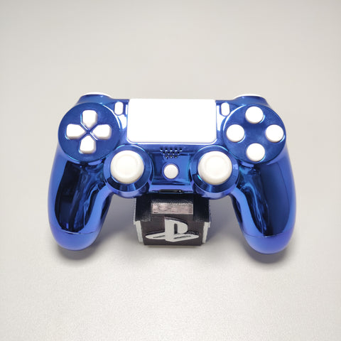 Official PS4 Controller V2 Custom Full Chrome Blue w/ White Buttons