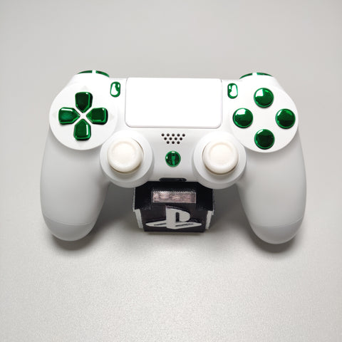 Official PS4 Controller V2 Custom Arctic White Themed w/ Chrome Green Buttons