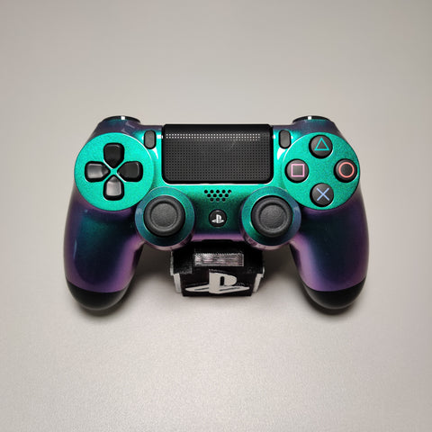 Official PS4 Slim/Pro Controller V2 Custom Chameleon Green & Purple Themed