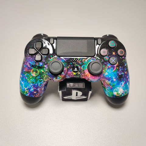 Official PS4 Controller V2 Custom Rainbow Bubbles Themed