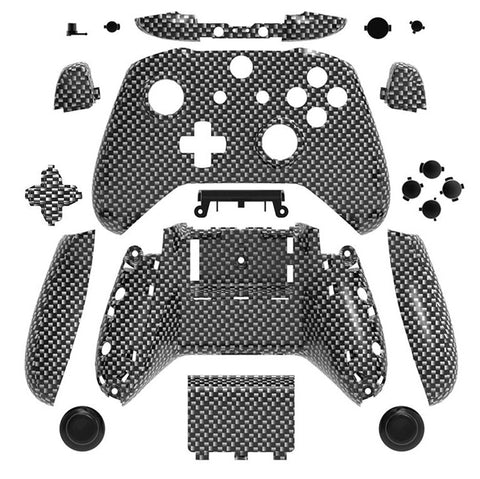 Brand New Xbox One S Controller Carbon Fibre Custom Replacement Full Shell