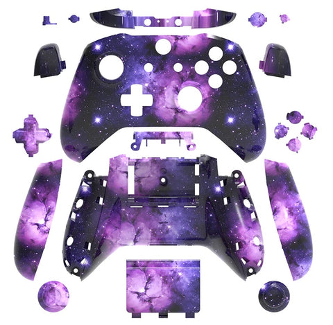 Brand New Xbox One S Controller Purple Galaxy Custom Replacement Full Shell