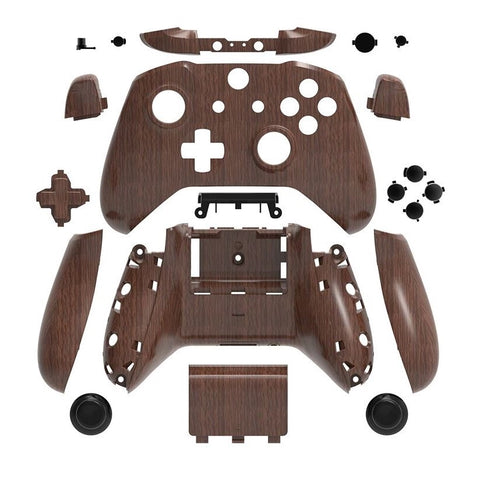 Brand New Xbox One S Controller Wooden Effect Custom Replacement Full Shell