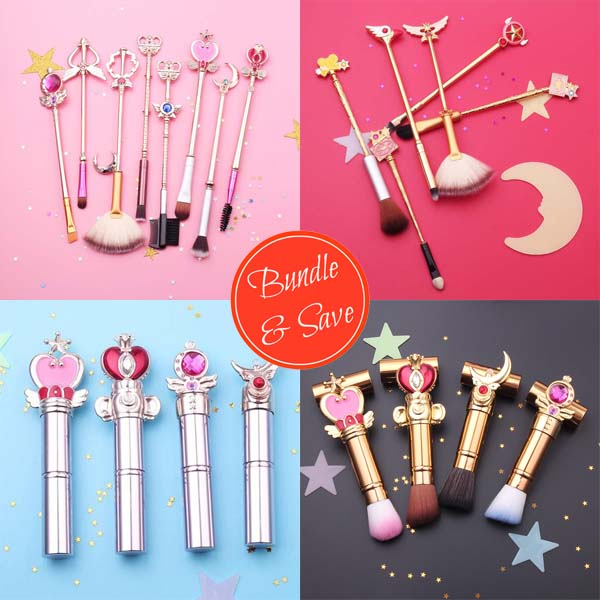 Bundle & Save - Sailormoon & Cardcaptor Sakura Makeup Brush Set