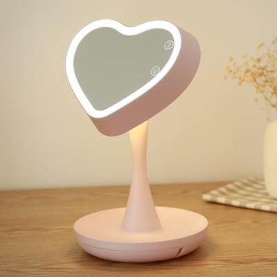 Heart Shape Makeup Mirror with 3X Magnifier