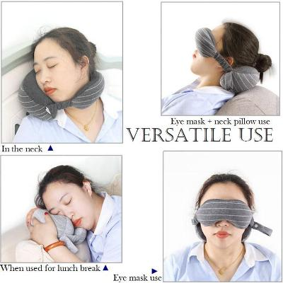 Cozzy™ Travel Pillow and Eye Mask Set