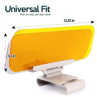 2-in-1 Anti Glare Car Visor for Day & Night