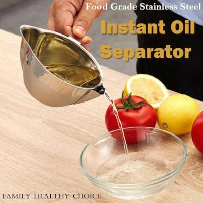 Food Grade Stainless Steel Oil Separator Pot with Handle