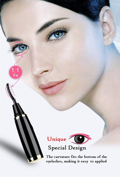 Instant Heated Eyelashes Curler for Long Lasting and Natural Look