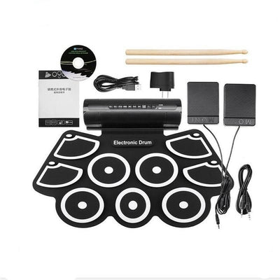 DrumLite™ Portable 9 Beat Electronic Drum with Built-in Speaker