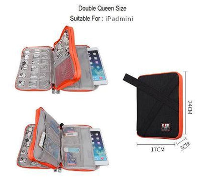 Multi Function Digital Data Cable Storage Bag Travel