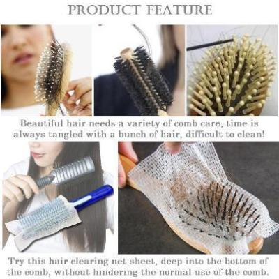 Japan Easy Clean Hairbrush Paper Comb Cleaning Net Sheet