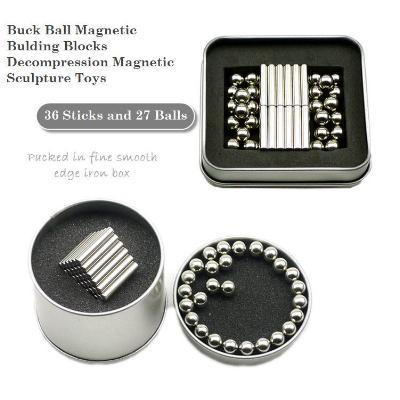 Buck Ball and Magnetic Rods Combination Toy Set