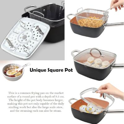 Multi Purpose Ceramic Pot Frying Pan Set