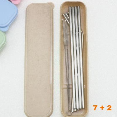 Premium Stainless Steel Metal Drinking Straw 7pcs Set