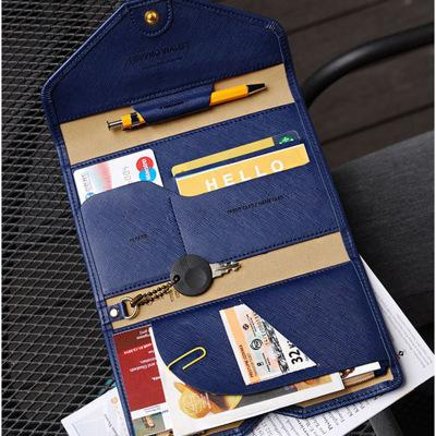 Multi-purpose Travel Passport Organizer Wallet with Rfid Blocking Anti Theft