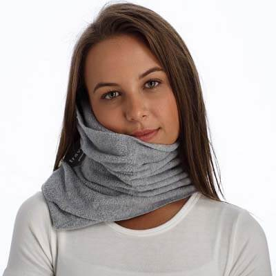 Portable Travel Pillow Scarf with Memory Foam