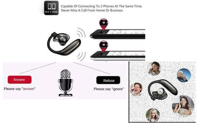 Single Headset Wireless Phone Bluetooth Answer Multiple Calls