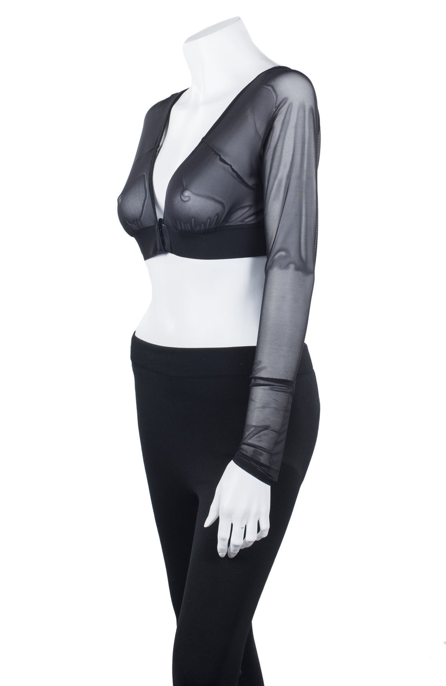 Completely Sheer Long Sleeve with Adjustable Corset