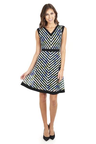 Chevron Print Dress