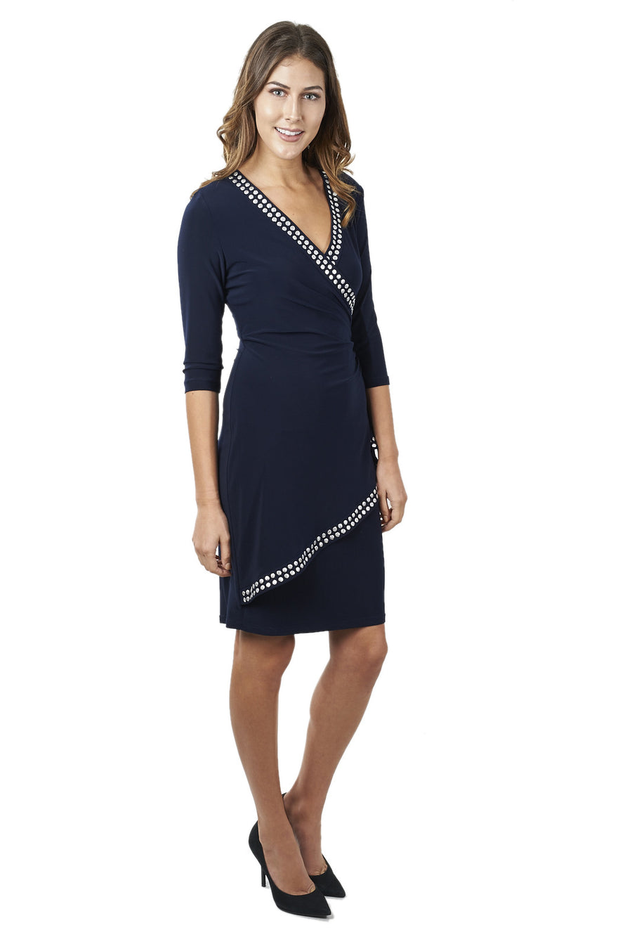 Long Sleeve Dress with Silver Spangles