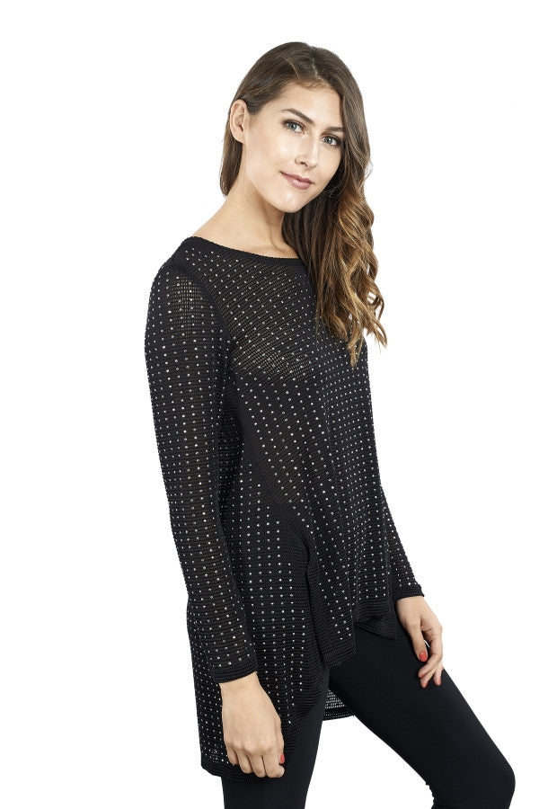 Knitted Tunic with Silver Spangles