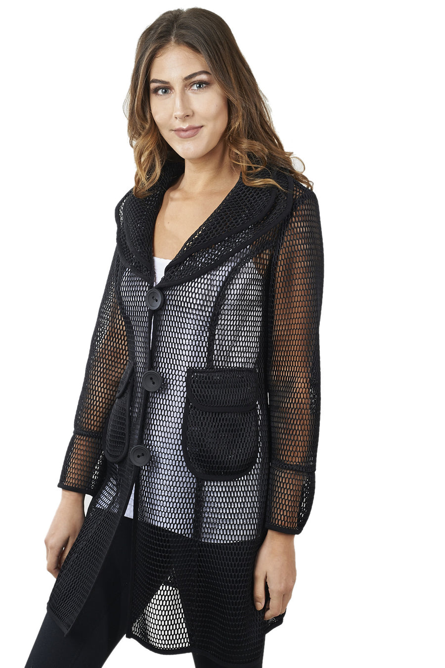 Mesh Jacket with Patch Pockets