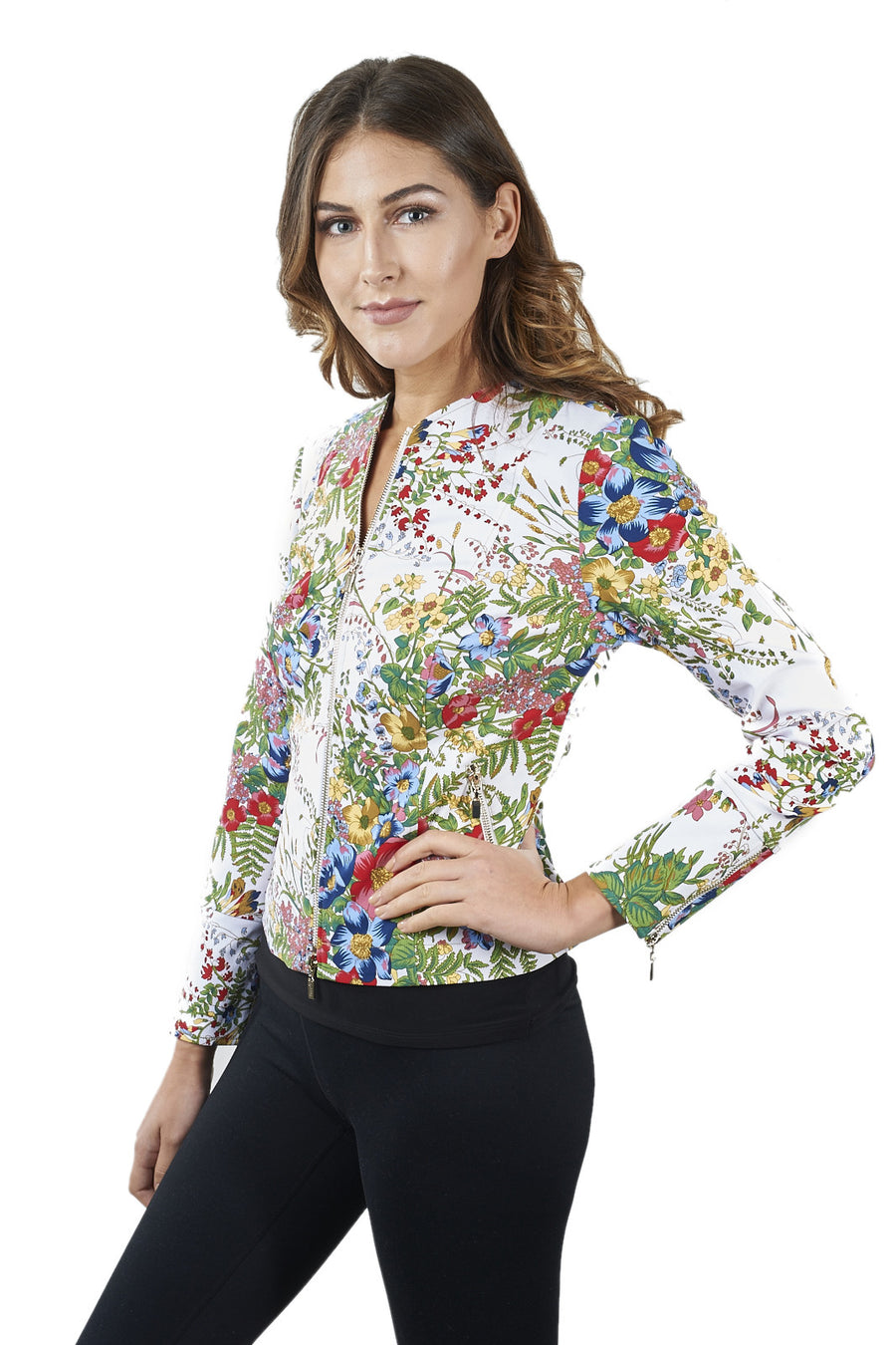 Spring Flower Pattern Jacket