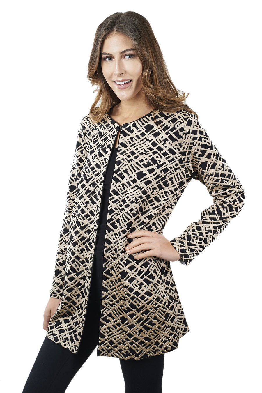 Patterned Jacket with hook closure