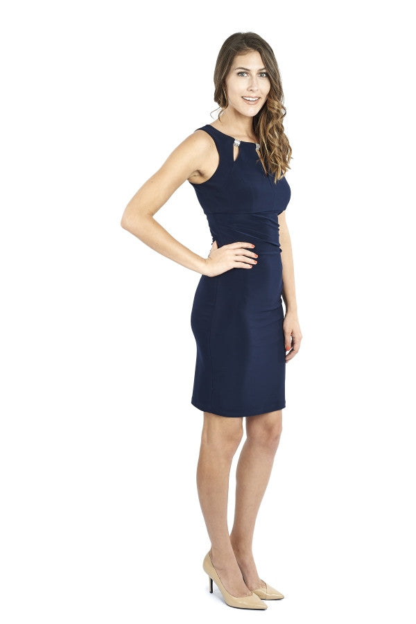 Tank Dress with Triangular Neck Cut-Outs
