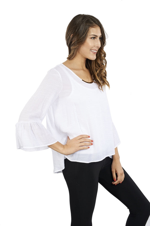 Blouse with Peplum Sleeves
