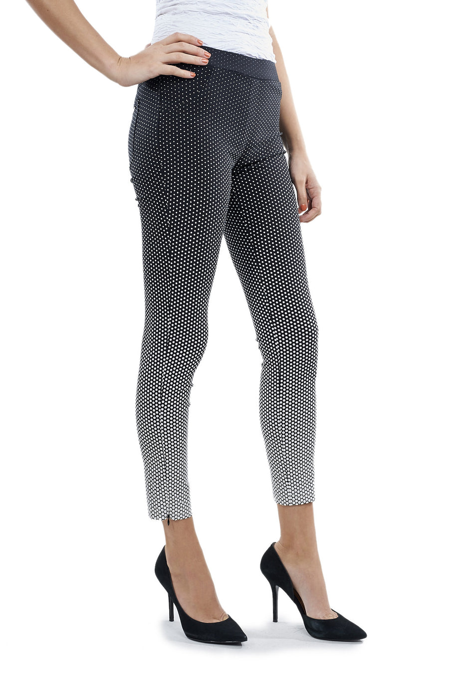 Cropped Polka-dotted Pants