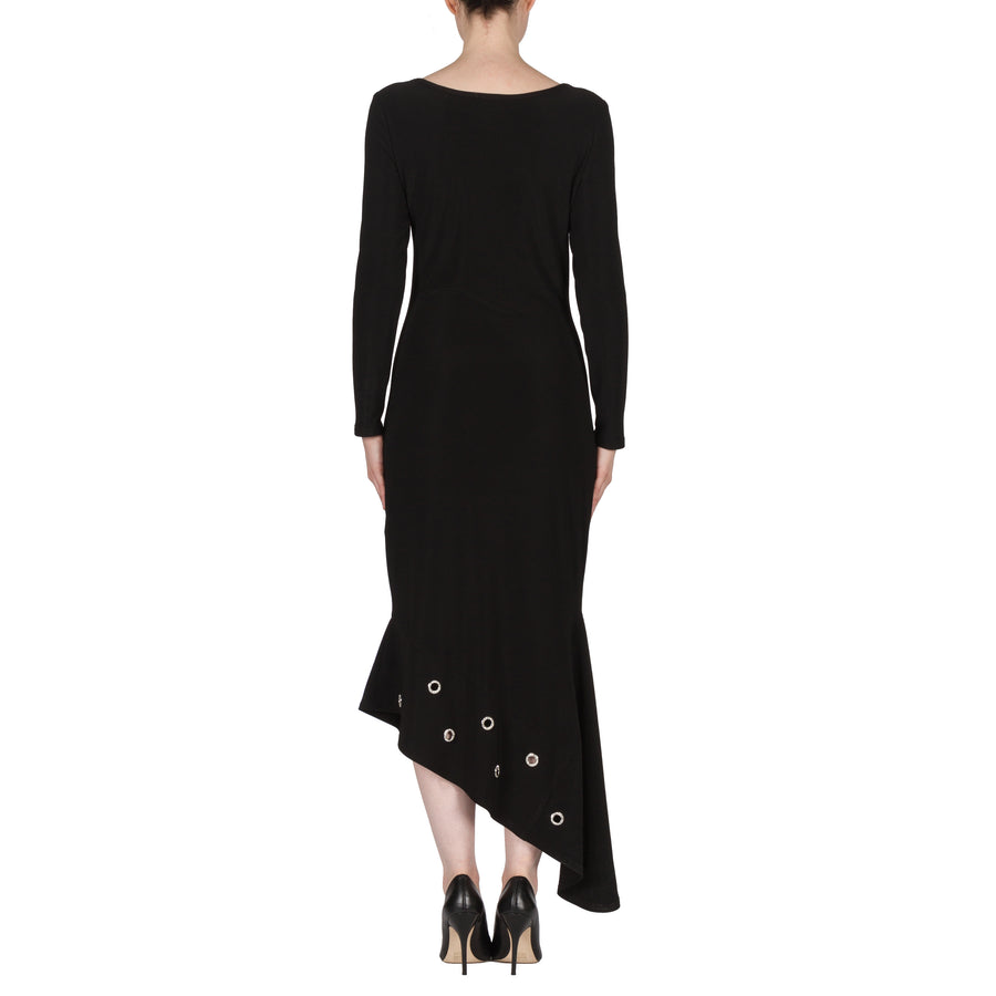 Long Asymmetric Hem Evening Dress
