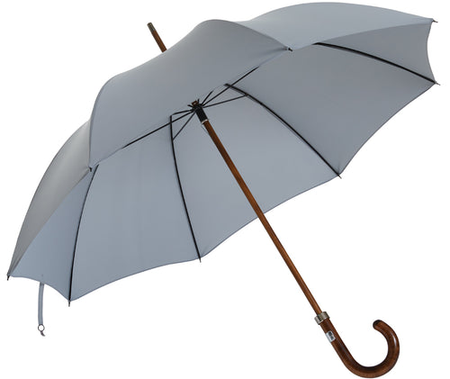 Beechwood core umbrella handmade and rain tested in England (grey)